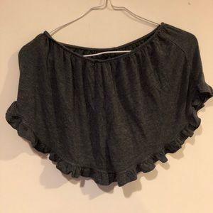 Brandy melville ruffled shorts